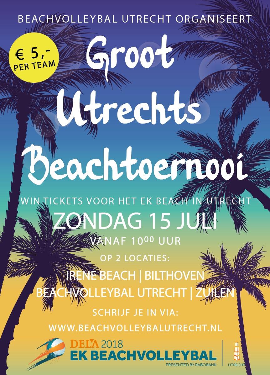 Promotie Groots Utrechts Beachtoernooi 1